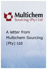 A letter from Multichem Sourcing Ltd